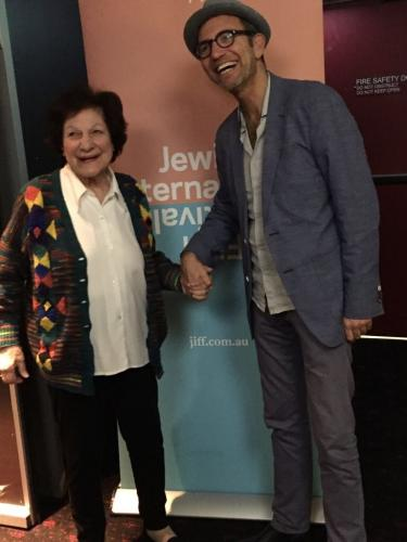 Sydneysider and Shalom Bollywood interviewee, Ruby Mordecai, cousin of the great Sulochana, attended the film's sold out Sydney Premiere at JIFF, seen here with director Danny Ben-Moshe