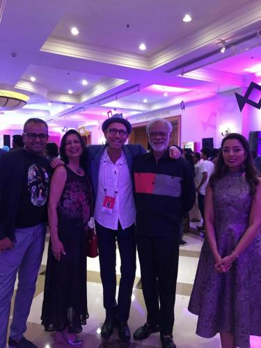 Director Danny and cast member Haider with the team from the UK Indian Film Festiuval at Mumbai Film Festival closing party