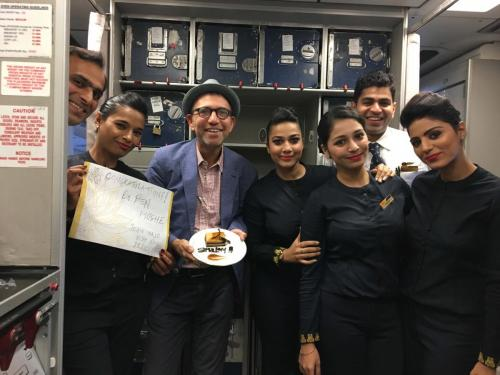Even Jet Air crew can't get enough of Shalom Bollywood