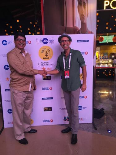 Indian Jewish leader Ralphy Jhirad with Director, Danny Ben Moshe at Mumbai Film Festival 2017