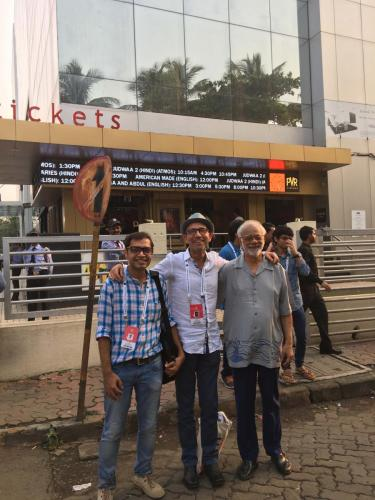 PVR Cinema Juhu Mumbai for World Premiere, Assistant Director Dwit Monani, Director Danny Ben Moshe, actor and cast member Haider Ali