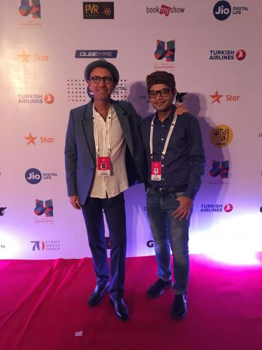 Red Carpet at Mumbai Film Festival 2017 Director, Danny Ben Moshe and assistant director Dwit Monani