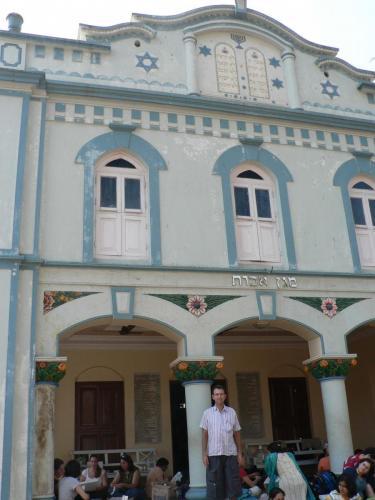 Director Danny Ben Moshe on location at Bene Israel synagogue in Konkan
