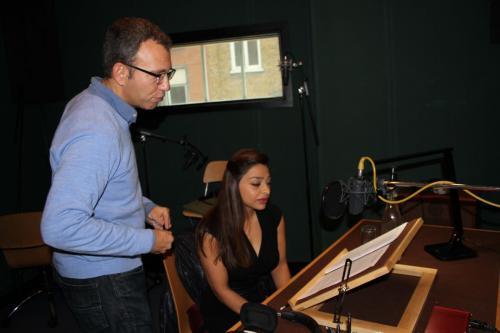 Director Danny Ben Moshe with narrator Ayesha Dharker