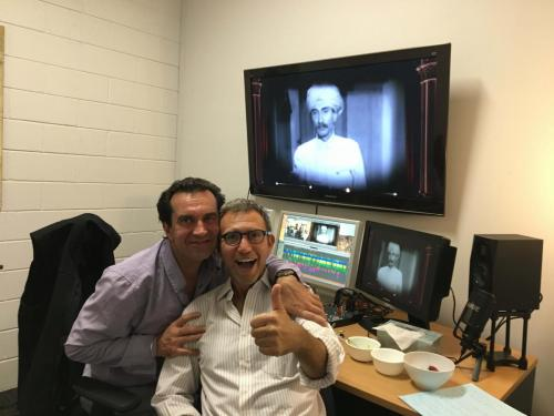 In the edit suite editor Robert Werner with Director, Danny Ben Moshe