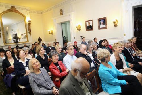 Attendees at Indian Embassy in Washington DC talk on Shalom Bollywood 2013